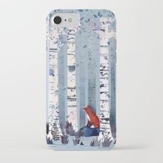 The Birches (in Blue) Slim Case iPhone 7