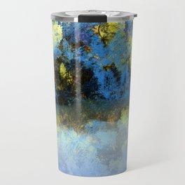 Bright Blue and Golden Pond Travel Mug