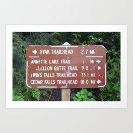 Trail Miles Art Print