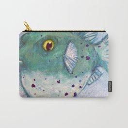 Friendly Fugu (Original Green) Carry-All Pouch