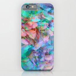 Pastel Abstract Hydrangea iPhone Case