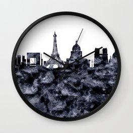Paris France Skyline Wall Clock