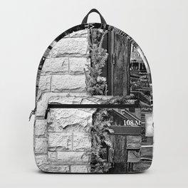 Black & White Doorway Backpack