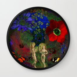 Adam and Eve's Harmonious Earth Wall Clock