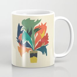 Potted staghorn fern plant Coffee Mug