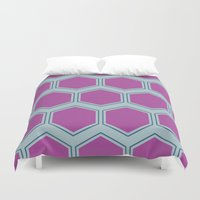 honeycomb Duvet Covers featuring Honeycomb by Sarah McMahon