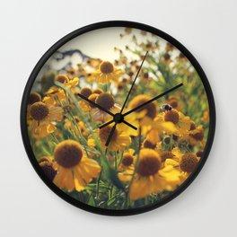 Yellow Bee Wall Clock