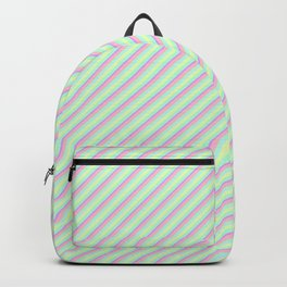 Pastel Tones Inclined Stripes Backpack