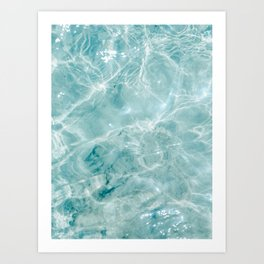 Clear blue water | Colorful ocean photography print | Turquoise sea Art Print