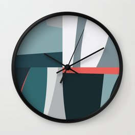 Organic Geometric 01 Blue Wall Clock