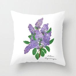 Lilacs: Syringa Throw Pillow