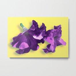 Blossom in Mauve Purple Metal Print