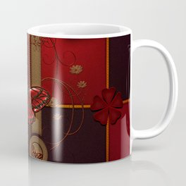 Beautiful butterflies with floral elements Coffee Mug
