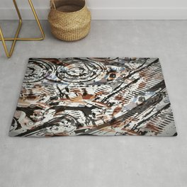 Reverse Abstract V-Twin Rug