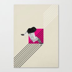 Geometric Falling Girl Graphic Canvas Print