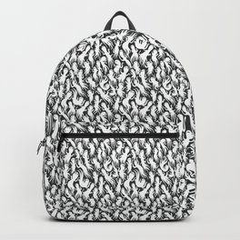 White Ghostly Pattern Backpack