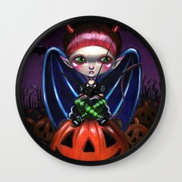 Halloween Little Devil Wall Clock