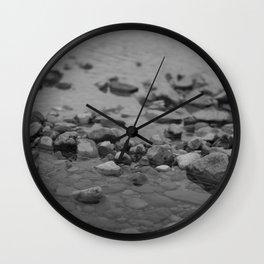 the shallows // river rocks Wall Clock