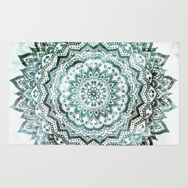 Emerald Jewel Mandala Rug