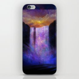 Galaxy waterfall iPhone Skin