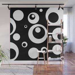 Circles Dots Bubbles :: Black Pepper Wall Mural