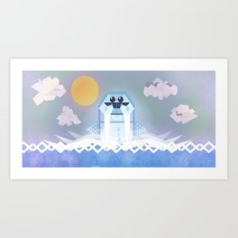 Hot Dish Walrus Art Print
