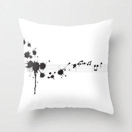 Splatter in D Minor Throw Pillow