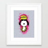 snoopy Framed Art Prints featuring Snoopy Dog by Mateus Quandt