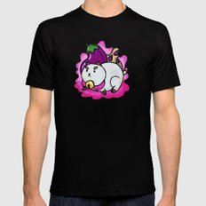A Chubby Puppycat Mens Fitted Tee Black MEDIUM