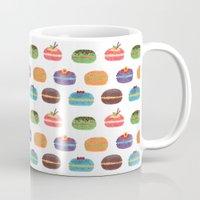 macarons Mugs featuring Sweet Macarons by haidishabrina