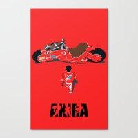 akira Canvas Prints featuring Akira by Pocketmoon designs