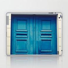 Paris door, blue Laptop & iPad Skin