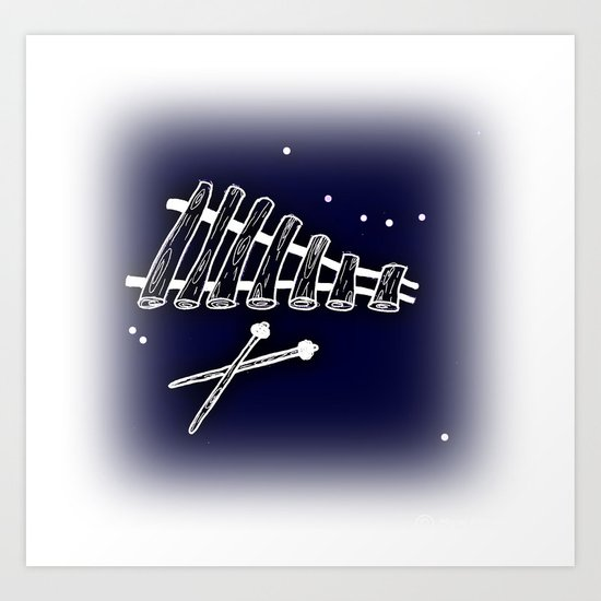 Space Marimba Art Print