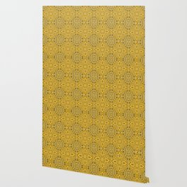 Boujee Boho Golden Mustard Royal Print Wallpaper