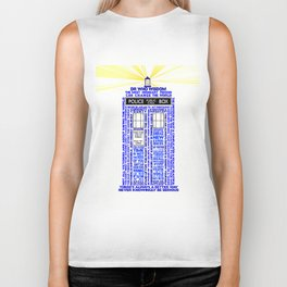 Doctor Who TARDIS Words of Wisdom Biker Tank