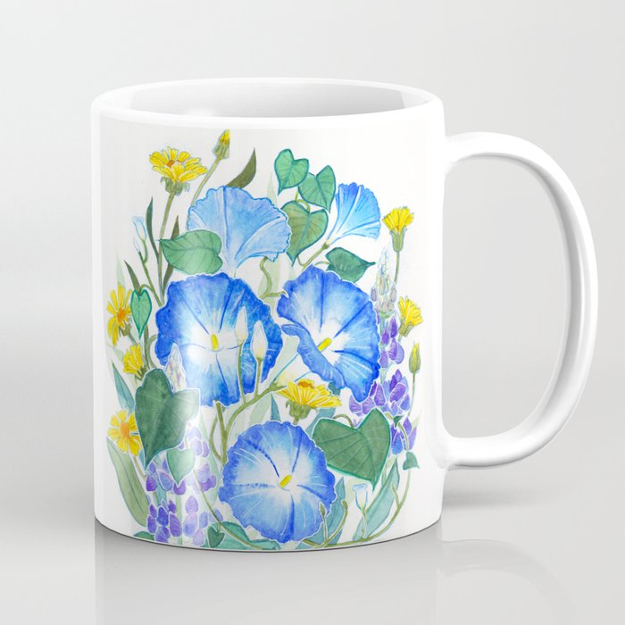Morning Glory Ikebana Coffee Mug