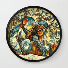 AnimalArt_Chimpanzee_20170601_byJAMColorsSpecial Wall Clock