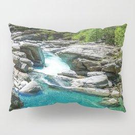 Valle Verzasca, Lavertezzo, Locarno, Canton of Ticino, Switzerland photograph Pillow Sham
