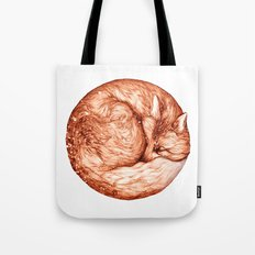 Fox and Snow Tote Bag