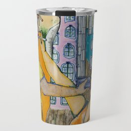 The castle on the rock and other sights Travel Mug