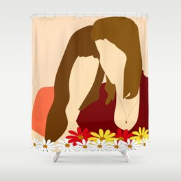 Mom and daughter Shower Curtain