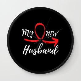 My New Husband - Just Married Wall Clock