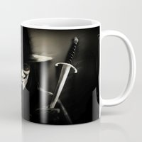 vendetta Mugs featuring V for Vendetta (e5) by Ezgi Kaya