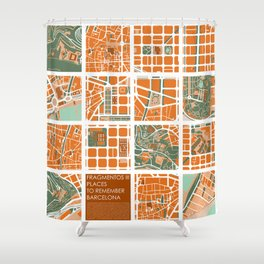 Fagmentos III Barcelona Shower Curtain