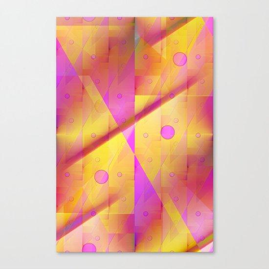Geometric pattern pink and orange  Canvas Print