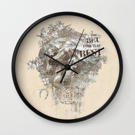 Romantique Horses Wall Clock