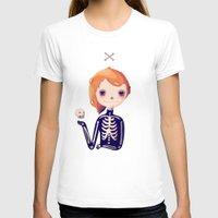 bones T-shirts featuring Bones by Nan Lawson