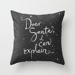 Dear Santa No. 1 Throw Pillow
