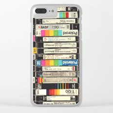 VHS Stack Clear iPhone Case