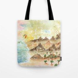 Landscape Nature Watercolor Art Tote Bag